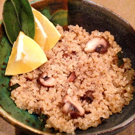 Garlic Mushroom Quinoa with Sage Infused Brown Butter | www.thealiconklin.com