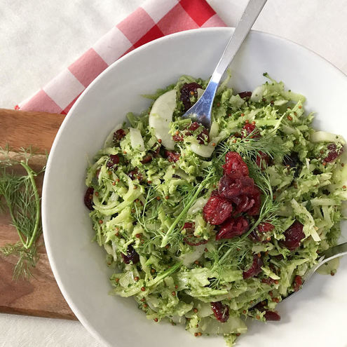 Broccoli and Cranberry Slaw | www.thealiconklin.com