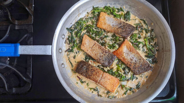 Creamy Garlic and Fennel Salmon | www.thealiconklin.com